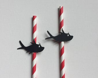 Cat in the Hat Party Decorations - Cat in the Hat Paper Straws - Cat in the Hat Party Straws - Dr. Suess Party - Dr Suess Paper Straws -