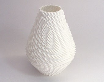 HGTV modern vase with triangle texture 3d printed sculpture vase gift