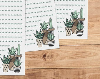 Succulents - A5 Stationery - 12, 24 or 48 sheets