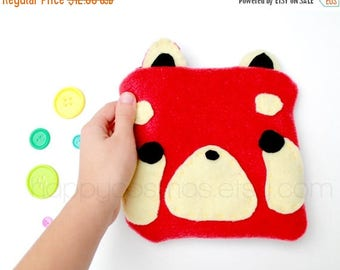 ON SALE - Red Panda Zipper Pouch - Pencil Pouch, Pencil Case, School Supplies, Make Up Bag, 3DS Case, Phone Case, Coin Purse