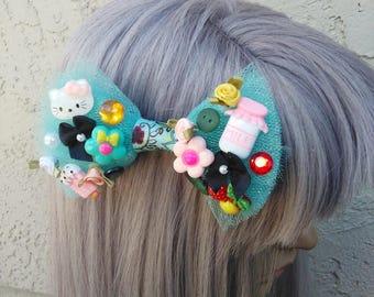 Harajuku Inspired Hair Bow, Kawaii Bow, Cute Bow, Bows For Girls, Bows For Teens, Hair Clip. Hair Bow, Unique Hair Bow, Tulle Hair Bows, Bow