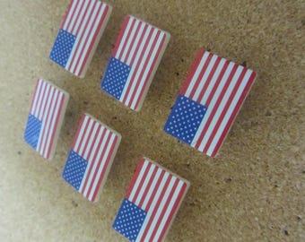 American Flag Push Pins