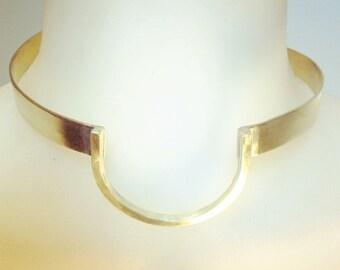 Handmade Brass Horseshoe Choker