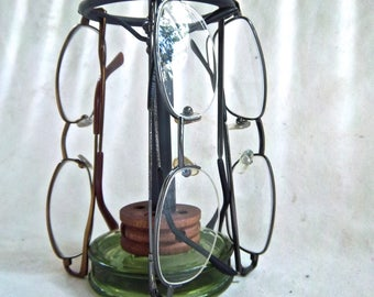 Handmade Repurpose Eye Glass Holder Stand Odds and Ends Up Cycle Redesign Eye Glasses Shades Stand Home and Living Storage Organization