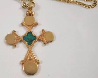 Greek Cross, Alva Museum Replica from Original Byzantine Cross from 18th-19th Century. LOVELY!