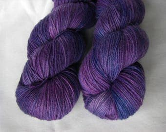 Superfine Alpaca, Merino and Nylon Fingering Sock Weight - Grape Jelly