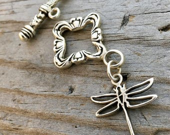 Destash Sterling Silver Dragonfly Toggle Clasp