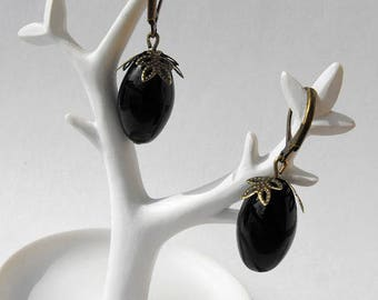 Black olive earrings