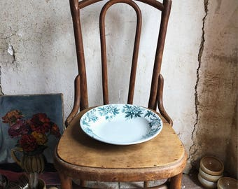 Antique French Ironstone Cake Stand  / antique ceramic cake stand / antique french pottery / vintage transferware