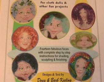 FOCUS On FACES 2 & Bodies~Barb Keeling~2005~PDF DoWNLOADABLE cloth art doll patterns