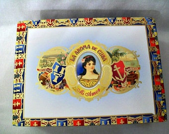 Empty cigar box for crafting - La Aroma - Mi Amor - Valentino