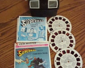 Bakelite View-Master with Superman disc
