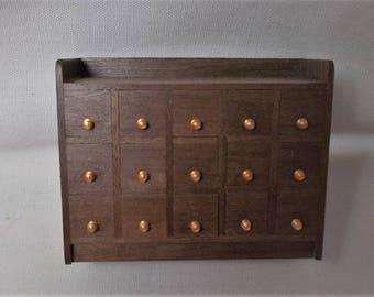 Dollhouse Handmade Miniature 15 Drawer Spice Chest / Cabinet