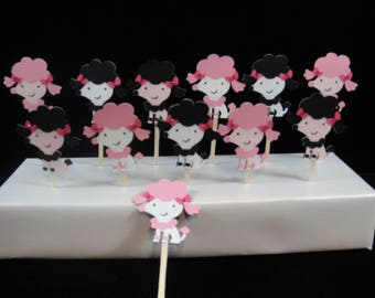 Poodle Cupcake Toppers, Pink Poodles, Kids Parties, Paper Cupcake Toppers, Paris Themed Party, Dogs Party, Girls Parties, Cake Decorations,