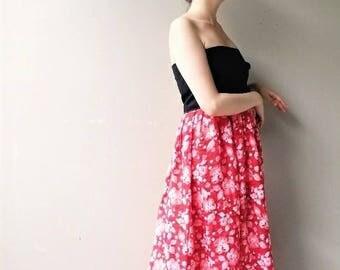 Eastern Blossom: Gauze Maxi Dress