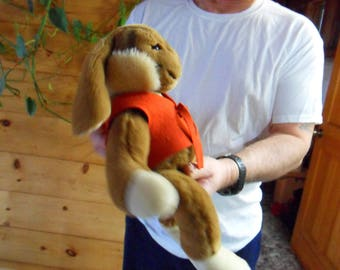 Steiff rabbit rare Large all Ids made in Germany 2238