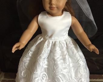 18 inch Doll First Communion Dress