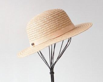 80s Gucci Straw Hat • Vintage Gucci Hat • Wide Brim Straw Hat • Vintage Designer Hat • Made in Italy • Vintage Straw Hat | GSC029