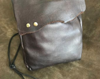 Eternal Leathers Gorgeous Handsewn Men's Italian Leather Satchel / Shoulder / Crossbody Bag
