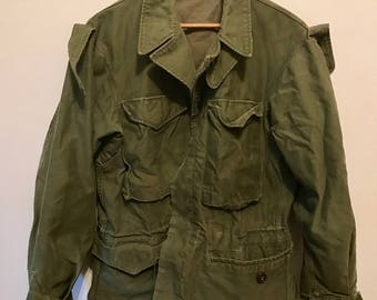 Vintage Military Jacket Army Green