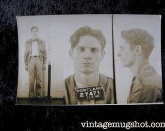 1949  Portland Oregon  Police Department Criminal 25 Year Old Rapist and Burglar
