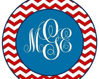 SALE : CHRISTMAS IN July Fourth of July Monogram