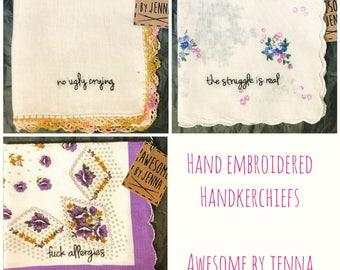 Hand Embroidered Handkercheifs