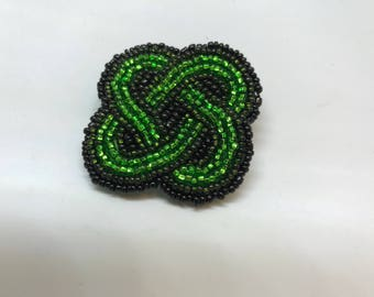 Celtic Knot Shamrock Pin