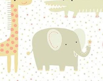 "Muslin-45""- Animal Print Elephant, Grey"