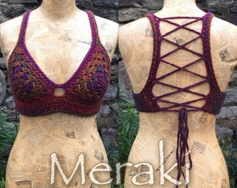 "Crochet ""Lexi"" Crop Top, Crochet Bralette, Festival top"