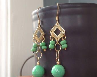 Factory Girl inspired Edie Sedgwick dangles 1960s retro inspired earrings