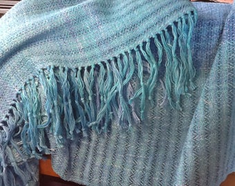 Handwoven Shawl with Fringe