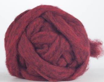 Corriedale Bulky Wool Roving - Pinwheel - 4 ounces