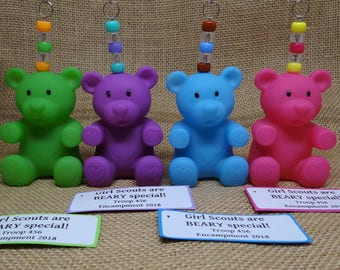 Set of Ten (10) Teddy Bear Gummy Bear BEARY Special Scout SWAP or Craft Kits
