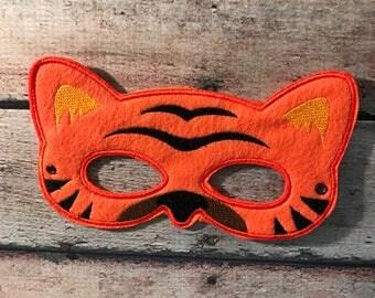 Adult Felt Mask, Tiger Mask, Felt Mask, Adult Mask, Older Child Mask, Animal Mask, Mask, Felt Animal Mask, Costume Mask, Dress Up Mask, RTS
