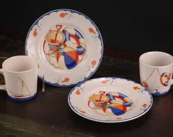 Tiffany & Co., Seashore Mug and Plate
