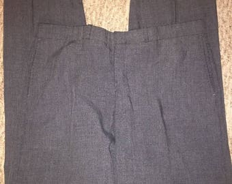 Vintage Men's Gray Dress Pants Size 36x30 Made By Farah Clothing Co.