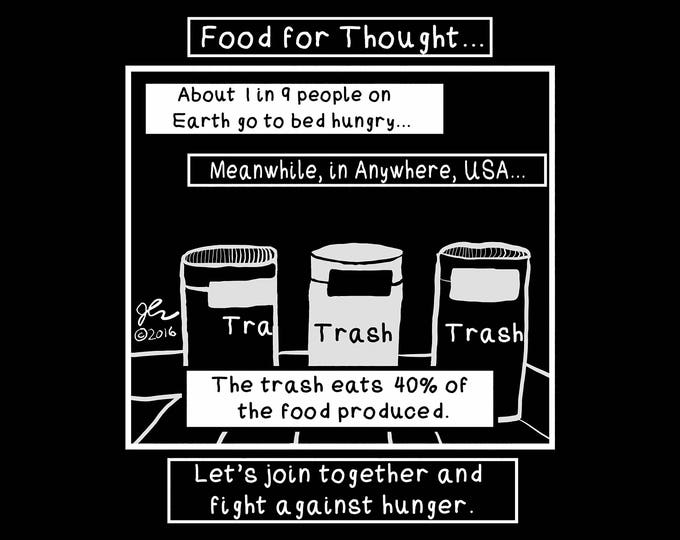 Punk Shirt Punk Shirts Hunger Shirts Human Rights Food Security Waste Trash Crust Social Justice Political Stop Hunger Shirt