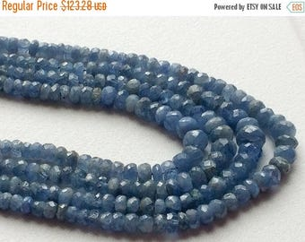 ON SALE 55% Sapphire, Blue Sapphire Faceted Rondelles, 2.5mm - 4.5mm Beads, 14 Inch Strand 70 CTW, Original Sapphire Necklace