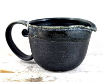 Handmade Ceramic Jug with Generous Handle - Pottery Black - Gravy Boat - Creamer - Milk Pourer - Home Decor - by Dawn Whitehand on Etsy