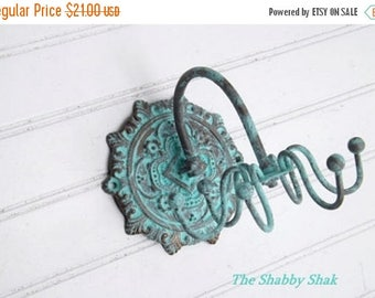 ON SALE ON Sale Patina // Jewelry Organizer // Necklace Holder // Hook /Wall Jewelry Hanger // Necklace Organizer