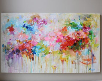 60x36 XLarge abstract painting,Contemporary art,colorful painting,large abstract,Modern Art,