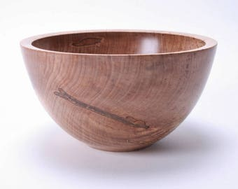 "Fiddleback Ambrosia Maple Wooden Bowl #1558  7 1/2"" X 4 1/8"""