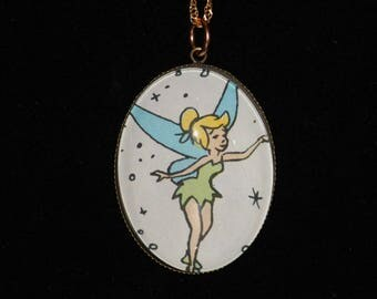 Disney Peter Pan Tinker Bell Pendant Necklace Lost Boys Fairy