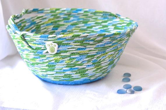 Boy Easter Basket, Handmade Blue Easter Basket, Keepsake Easter Basket, Easter Egg Hunt Bucket, Easter Egg Hunt Bag