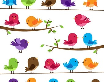 BACK TO SCHOOL Sale Birds Clipart Clip Art - Commercial and Personal Use
