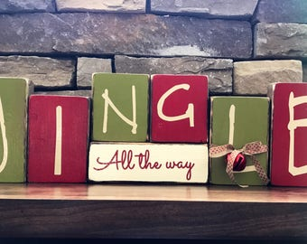 Christmas blocks-- Jingle All the way(paint)