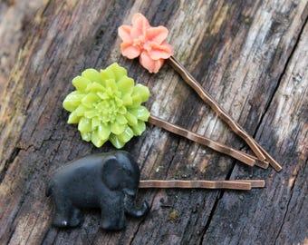 Elephant Bobby Pin Set