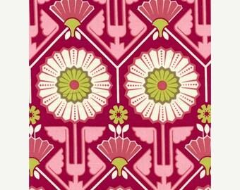 SALE 30% OFF - Joel Dewberry - Modern Meadow - Sunflower in Berry  JD33 - Free Spirit Fabric  - By the Yard