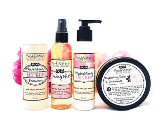 Natural Skincare Facial Care set for Normal to Dry Skin - dry skin face routine - natural handmade facial skincare set